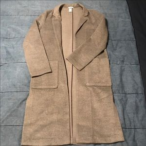 H&M Feather Grey Trench Coat